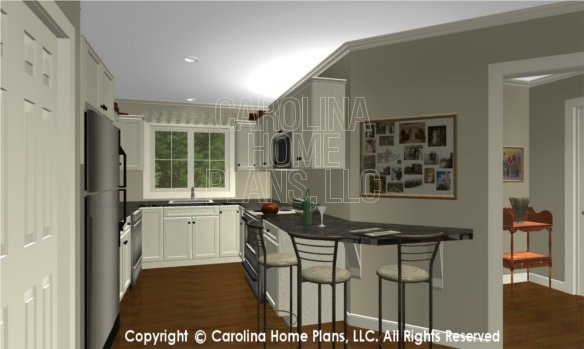 LG-2715 3D Apartment Foyer to Kitchen