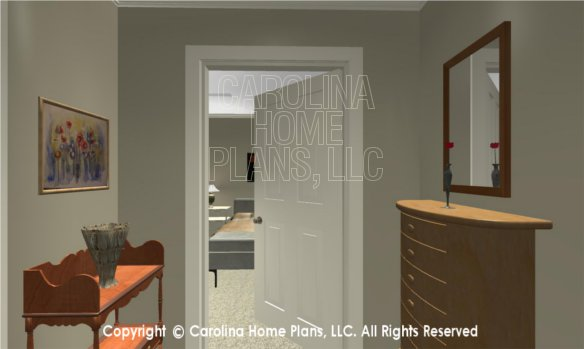 LG-2715 3D Apartment Hallway to Bedroom