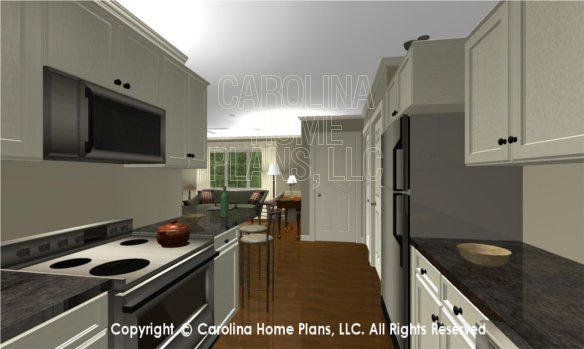 LG-2715 3D Apartment Kitchen to Foyer