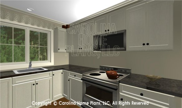 LG-2715 3D Apartment Kitchen, sink and stove