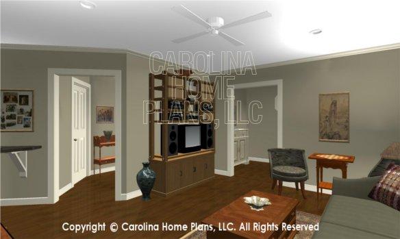 LG-2715 3D Apartment Living Room to Hallway