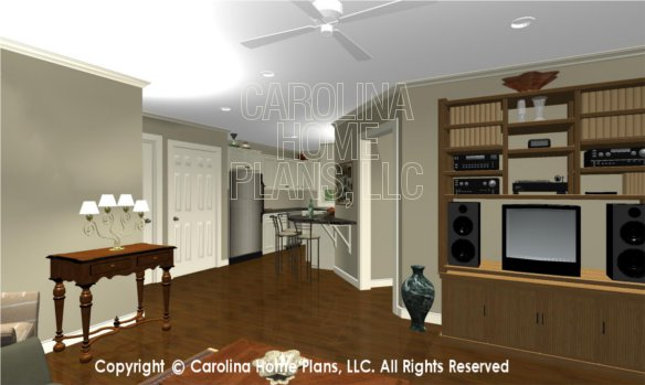 LG-2715 3D Apartment Living Room to Kitchen
