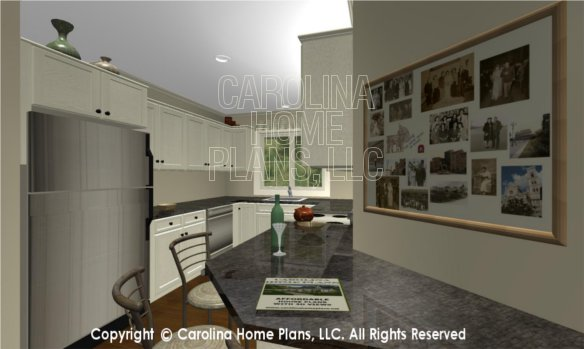 LG-2715 3D Apartment Lunch Counter to Kitchen