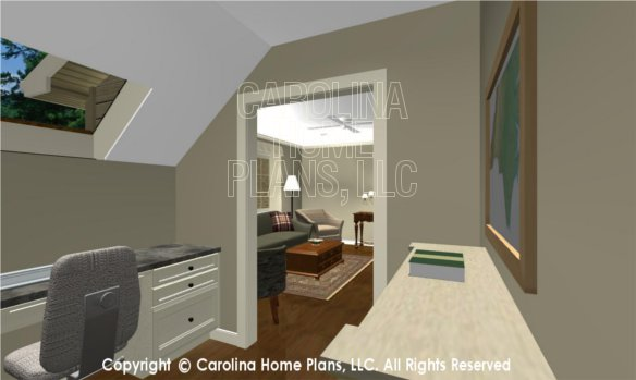 LG-2715 3D Apartment Office to Living Room
