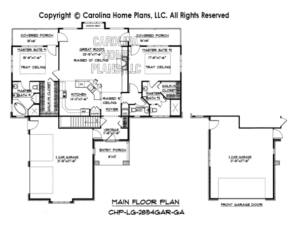 LG-2854 Main Floor Plan Garage