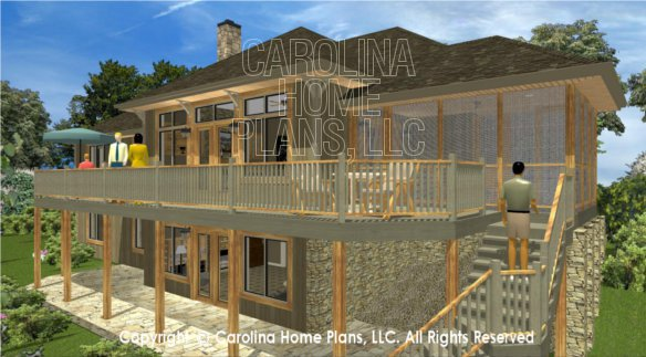 3d Images For Chp Lg 3096 Ga Large Hillside Ranch 3d