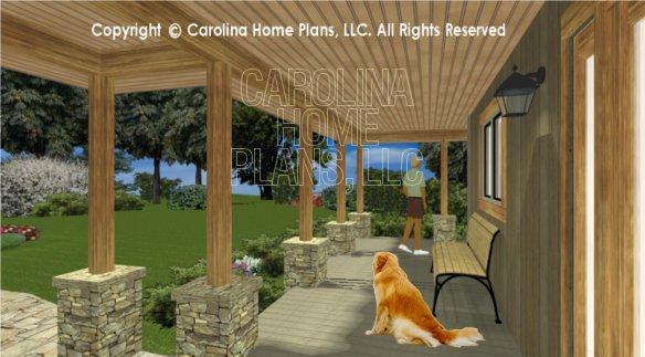 LG-3096 3D Front Porch