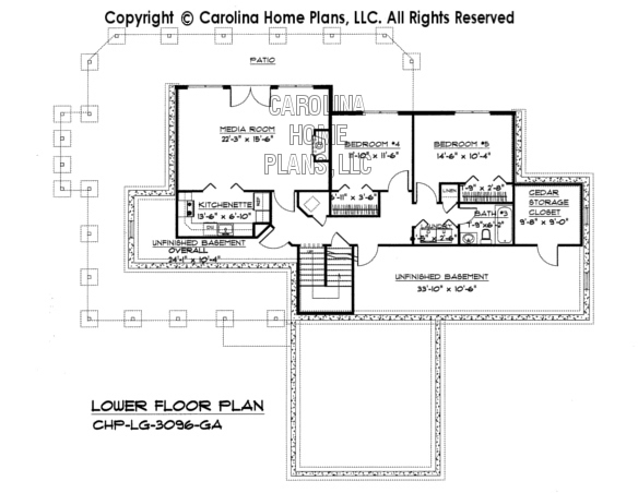 LG-3096 Lower Level Floor Plan