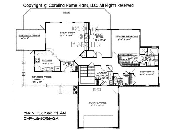 LG-3096 Main Floor Plan