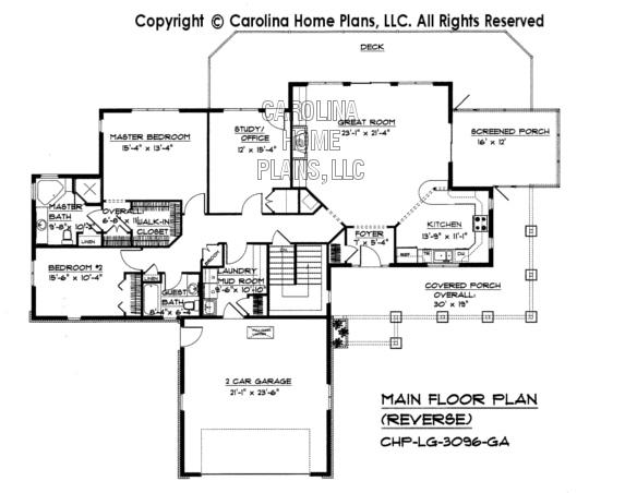 LG-3096 Reverse Main Floor Plan