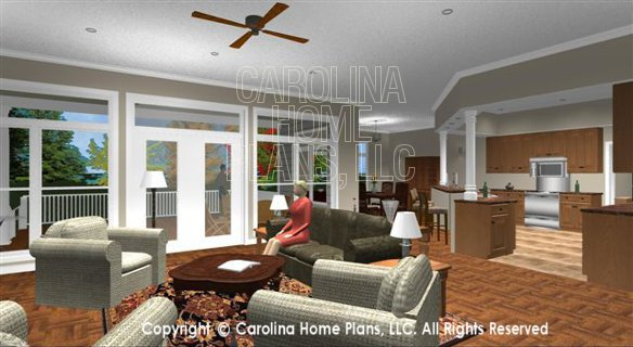 SP-3581 Living Room to Dining and Kitchen