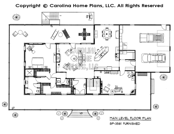 SP-3581-GA Furnished Main Floor Plan
