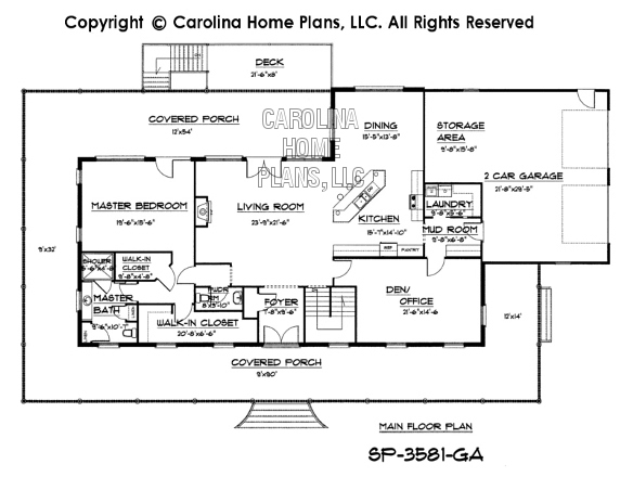 SP-3581 Main Floor Plan