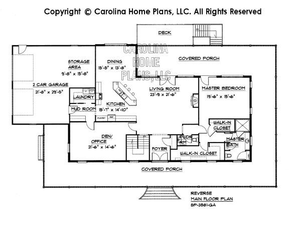 SP-3581 Reverse Main Floor Plan
