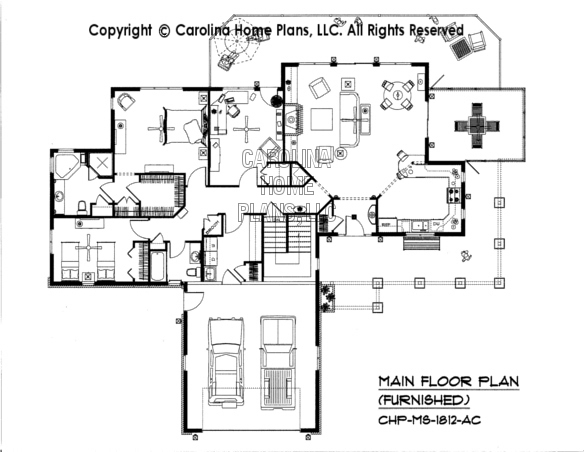 MS-1812-AC Furnished Main Floor Plan