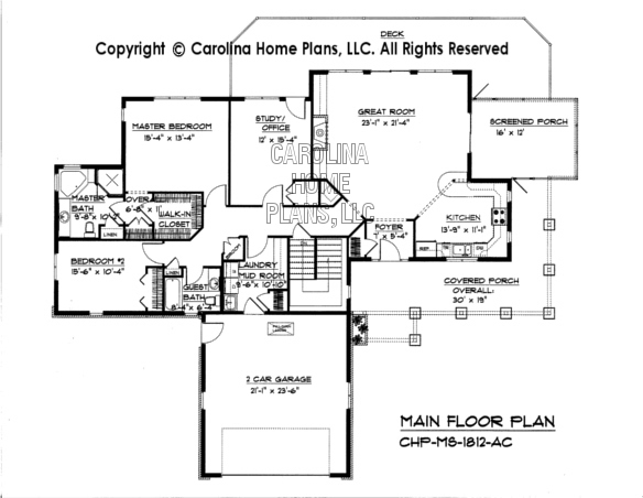 Ms1812ac Mid Sized Open Houseplan on one story house plans with open concept car pictures