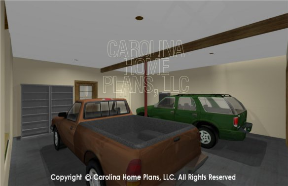MS-2102-AC 3D Garage to House