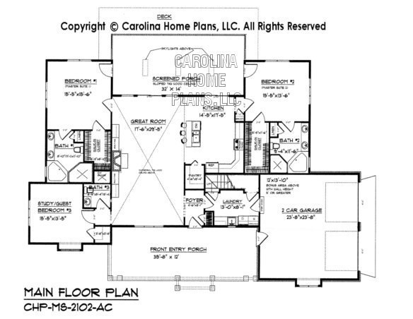 Midsize country craftsman house plan chp ms 2102 ac sq ft for House plans ms