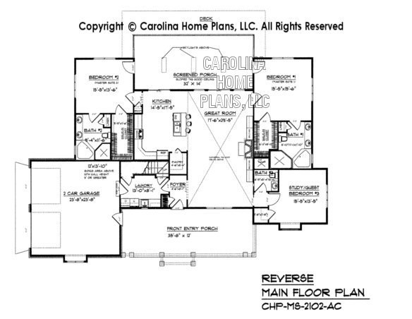 MS-2102 Reverse Main Floor Plan, crawl/slab