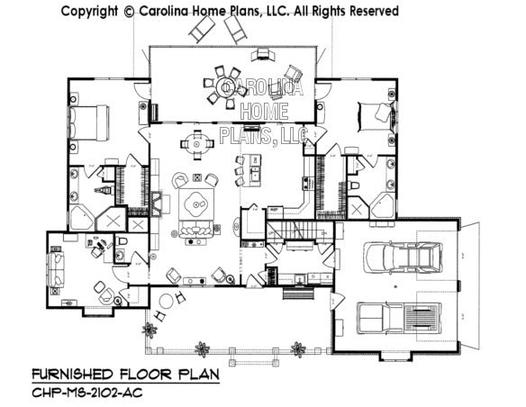 MS-2102-AC Furnished main Floor Plan