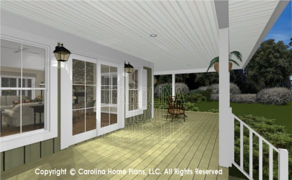MS-2138-AC 3D Back Covered Porch