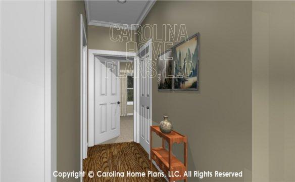 MS-2138-AC 3D Hallway, bonus room stairs