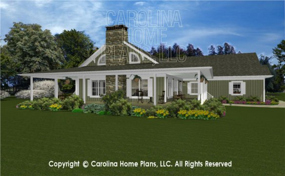 3d Images For Chp Ms 2138 Ac Midsize Country Cottage 3d