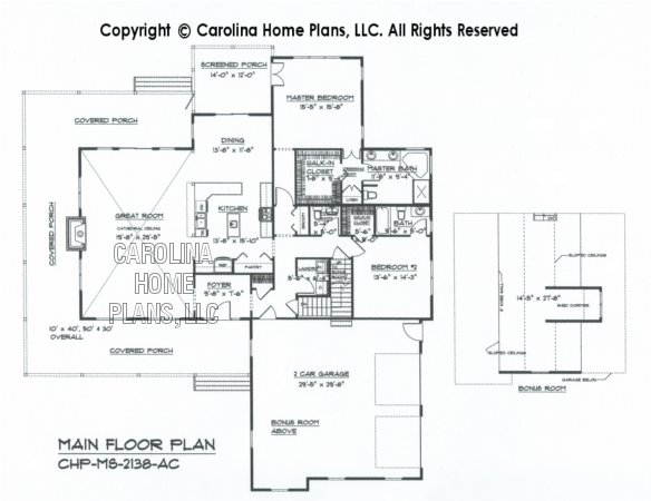 MS-2138 Main Floor Plan