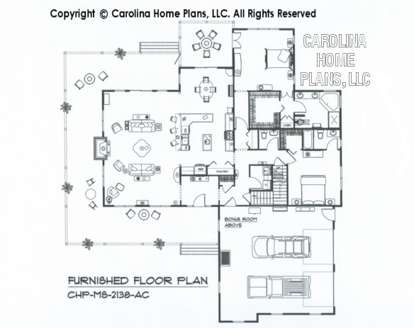 MS-2138-AC Furnished main Floor Plan