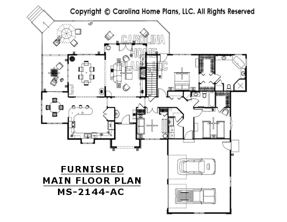 MS-2144-AC Furnished Main Floor Plan