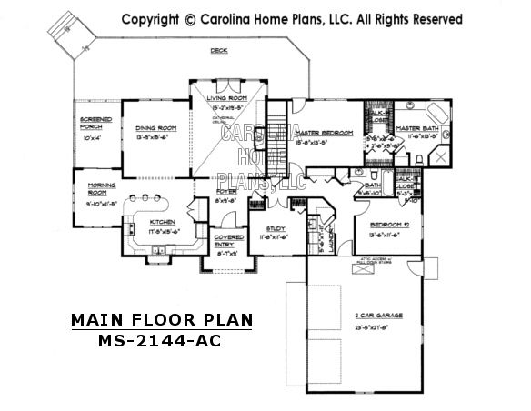 MS-2144 Main Floor Plan