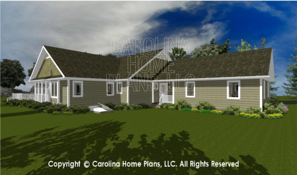 3d images for chp ms 2283 ac midsize country style 3d for House plans ms
