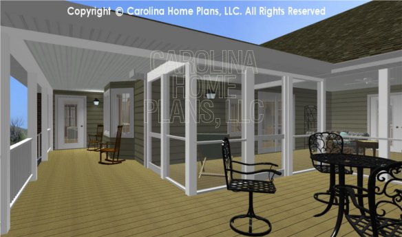 MS-2283-AC 3D Deck and Screened Porch