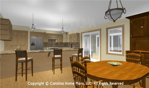 MS-2283-AC 3D Dining to Kitchen and Screened Porch
