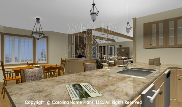 MS-2283-AC 3D Kitchen to Bar and Living Room