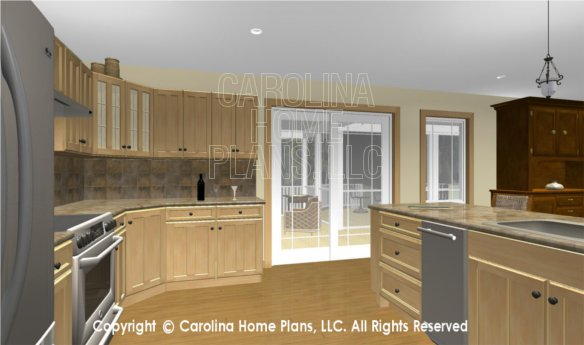 MS-2283-AC 3D Kitchen to Screened Porch and Deck