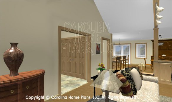 MS-2283-AC 3D Living Room to Foyer