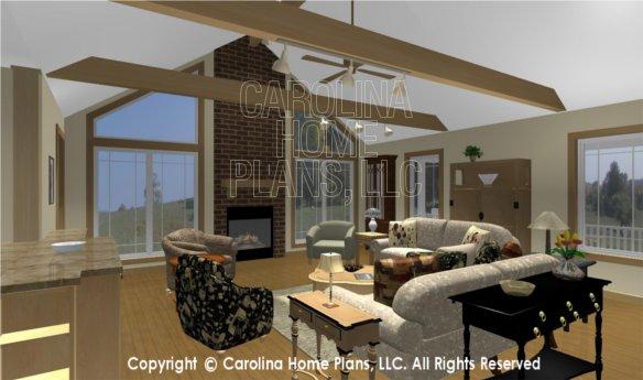 MS-2283-AC 3D Living Room