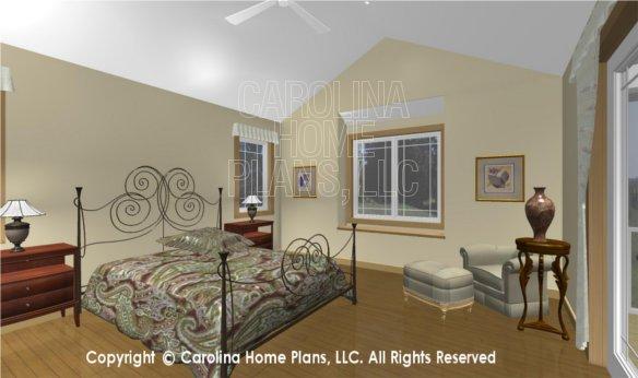 MS-2283-AC 3D Master Bedroom to Window Seat