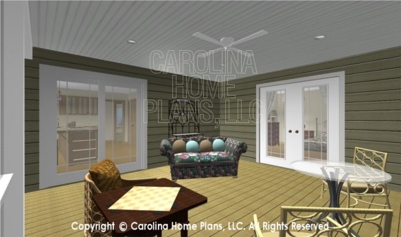 MS-2283-AC 3D Screened Porch to Kitchen and Master Bedroom
