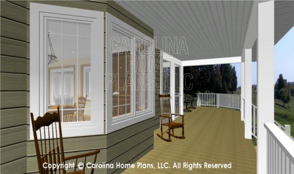 MS-2283-AC 3D Deck and Side Porch and Deck