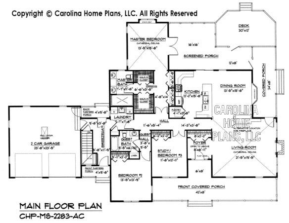 Pdf file for chp ms 2283 ac midsize country home plan for Blueprints and plans for hvac pdf