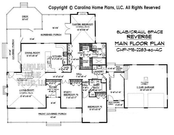 MS-2283 Reverse Main Floor Plan