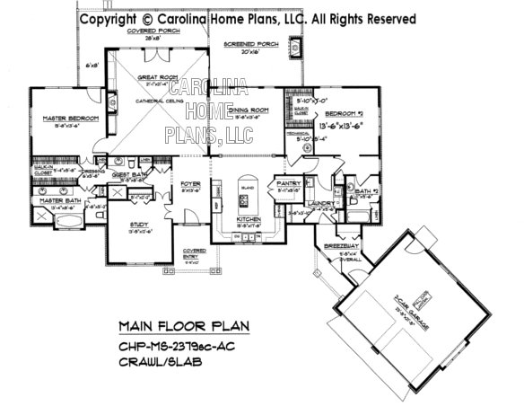 MS-2379-crawl/slab Main Floor Plan