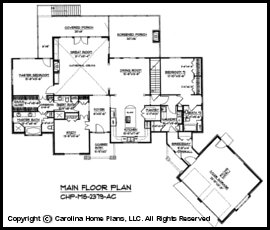 Midsize Craftsman House Plan CHP-MS-2379-AC Sq Ft | Midsize ... on double mastersuite plans, luxury master bedroom floor plans, double master house plans, dual view house plans, double split master floor plans, dual garage house plans, dual master floor plans two-story, dual living house plans, dual family house plans, dual master suite home, master suite floor plans, dual master bath house plans, bathrooms with dual master floor plans, 3 master suites house plans,