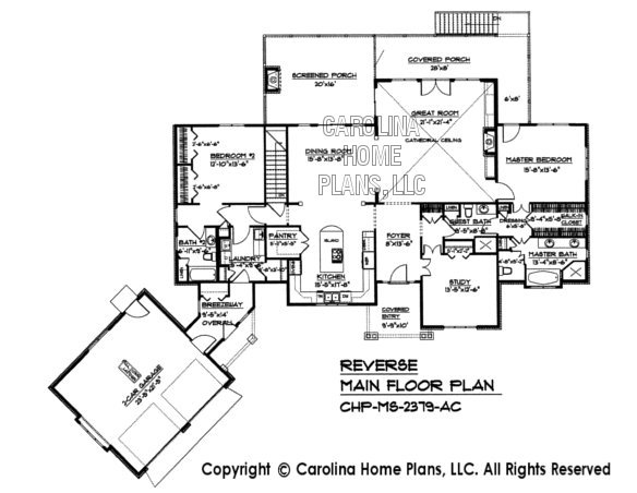 Midsize craftsman house plan chp ms 2379 ac sq ft for House plans ms