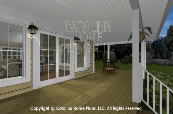 MS-2390-AC 3D Back Covered Porch