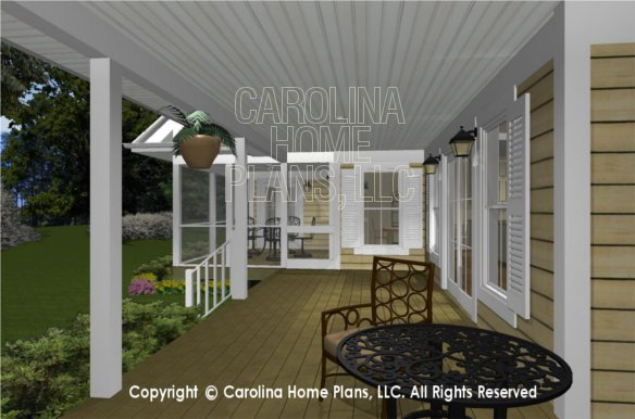 MS-2390-AC 3D Back Porch to Screened Porch