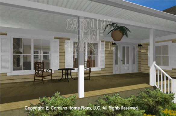 MS-2390-AC 3D Covered Front Porch