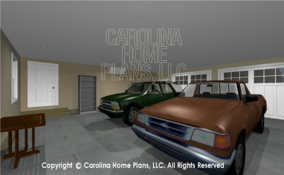 MS-2390-AC 3D Garage to House